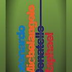 Leonardo, Michelangelo, Donatello, Raphael - iPhone case by D4N13L