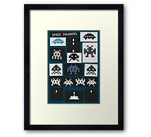 Space Invaders Saul Bass Style Framed Print