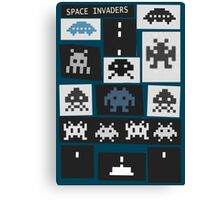 Space Invaders Saul Bass Style Canvas Print