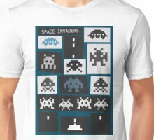 Space Invaders Saul Bass Style Unisex T-Shirt