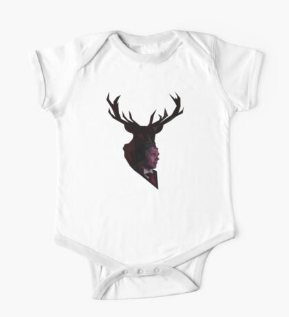 The Stag - Crimson One Piece - Short Sleeve