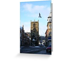 Morpeth Winter 2011 - Clock Tower Greeting Card