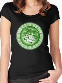 Zombie U Alumni Toxic Green Shirt  Women's Fitted Scoop T-Shirt
