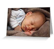 Sleeping baby girl Greeting Card