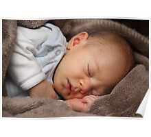 Sleeping baby girl Poster
