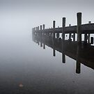 Jetty in Mist by Martin Griffett