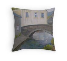 Swans in Newlyn Throw Pillow
