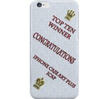 Top Ten Winner Badge iPhone Case/Skin