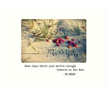 November 2012 - Lost For Words Art Print