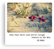 November 2012 - Lost For Words Canvas Print