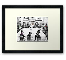 Cats Christmas Catastrophe by Louis Wain Framed Print