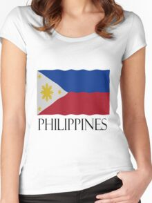 Philippines flag Women's Fitted Scoop T-Shirt