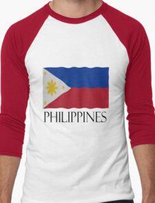 Philippines flag Men's Baseball ¾ T-Shirt