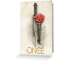 Once Upon a Time,  Dagger Rose, OUAT Greeting Card