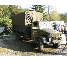 Captured Bedford OY Model. Photographic Print