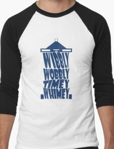 Tardis - Wibbly Wobbly Timey Whimey Men's Baseball ¾ T-Shirt