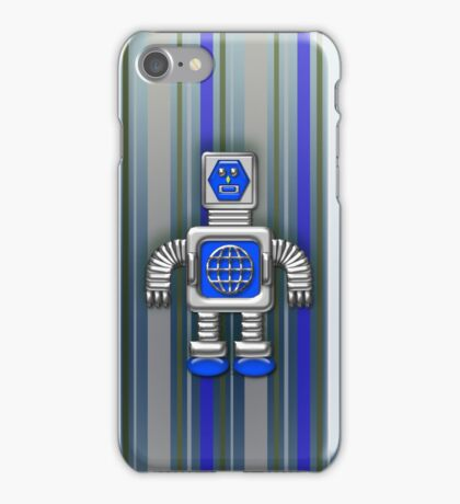 Little Blue Robot iPhone Case for Kids iPhone Case/Skin