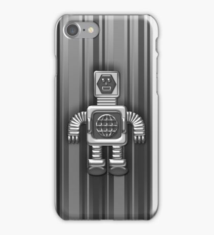 Little Black and Gray Robot iPhone Case for Kids iPhone Case/Skin