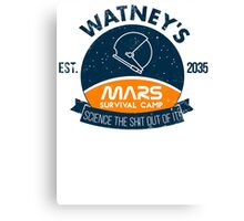 Watney's martian survival camp Canvas Print