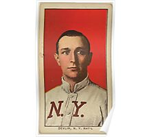 Benjamin K Edwards Collection Art Devlin New York Giants baseball card portrait 003 Poster