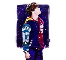 Starry Jimin Photographic Print