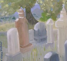 The Cemetary in Paradise Valley Nevada by Lynn Ahern Mitchell