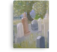 The Cemetary in Paradise Valley Nevada Canvas Print