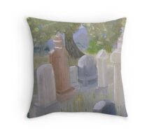 The Cemetary in Paradise Valley Nevada Throw Pillow