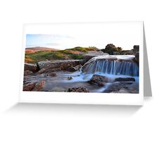 Dartmoor: The Leat at Windy Post Cross Greeting Card