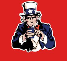 Uncle Sam With Smartphone Unisex T-Shirt