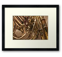 Special Moments with a Trombone and Horn Framed Print