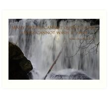 whatcom falls face with song of songs 8:7 Art Print