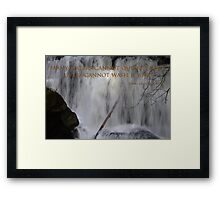 whatcom falls face with song of songs 8:7 Framed Print