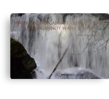 whatcom falls face with song of songs 8:7 Metal Print