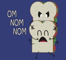 om nom nom sandwich by quinncinati