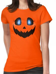 Pumpkin Face Womens Fitted T-Shirt