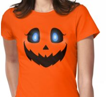 Pumpkin Face Womens Fitted T-Shirt