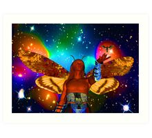 Star Moth Art Print