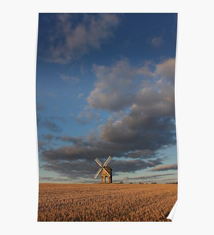Tiny mill huge sky Poster