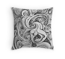 Lonely afternoon Throw Pillow