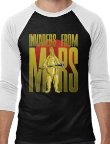INVADERS FROM MARS TEXT Men's Baseball ¾ T-Shirt