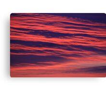Illuminated Abstract Clouds on an October sunrise, Darlington, England Canvas Print