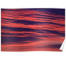 Illuminated Abstract Clouds on an October sunrise, Darlington, England Poster