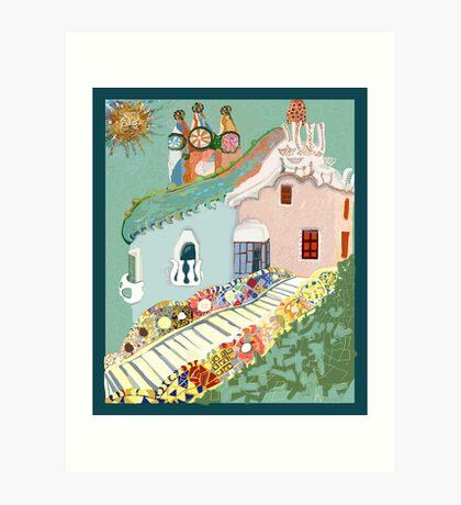 To Antoni Gaudi Art Print
