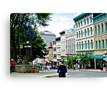 A street in quebec Canvas Print