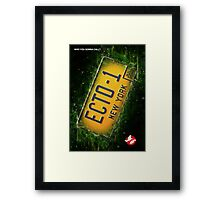 Ghostbusters Licence Plate Framed Print