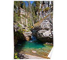 Canada. Banff National Park. Johnston Canyon. Poster