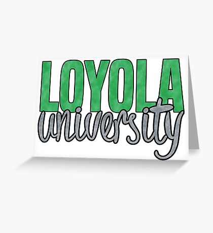 Loyola University Maryland Greeting Card
