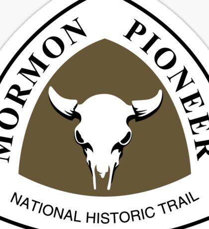 Mormon Pioneer Trail Sign Sticker