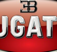 Bugatti - 3D Badge on Black Sticker